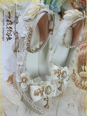 Tea Party Hanayome Lolita Shoes by One Night Language