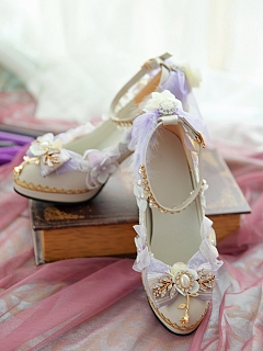 Violet Hanayome Lolita Shoes by One Night Language