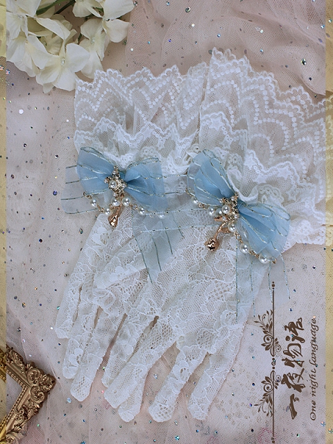 Lace Gloves With Boknots by One Night Language