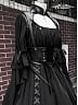 Pre-order Realm of Black Gothic Lolita OP and PU Corset by Ouroboros