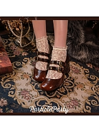 Mid-heel Double Straps Mary Jane Shoes by Particle Party