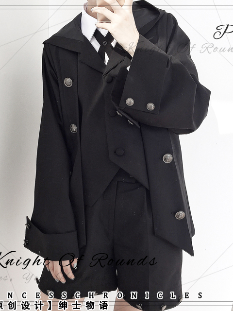 Stories of Gentlemen Fake Two-piece Ouji Suit Female Coat by Princess Chronicles
