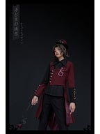 Red and Black II Series Ouji Lolita Coat by Princess Chronicles