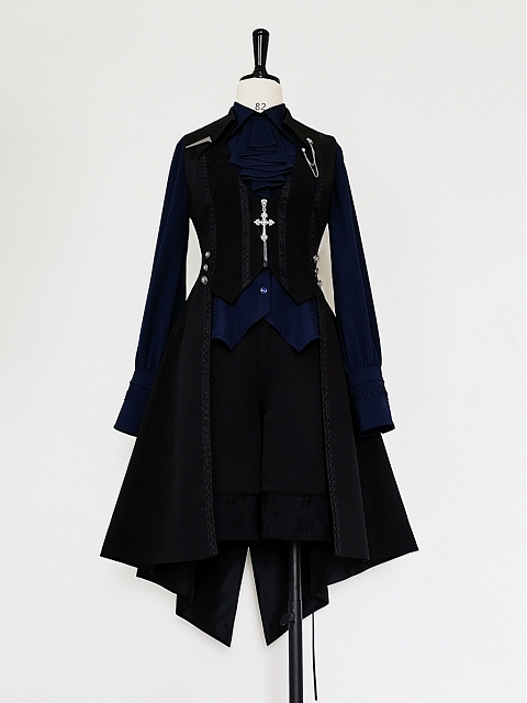 Black and Blue Series Ouji Lolita Vest by Princess Chronicles