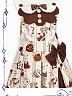 Chocolate Chip Cookies Adjustable Strap JSK by Pumpkin Cat