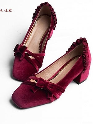 Dream Song Suede Lolita Shoes by PennyHouse