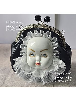 Antique Doll Face Gothic Bag by Pinkyy