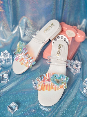 Rainbow Sugar Two-ways Sandals by POMPOM