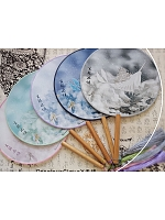 Pre-order Ode Of Whales Chinese Style Circular Fan by Precious Clove
