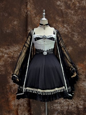 Golden Age Lolita Dress JSK Matching Cardigan by psmfm