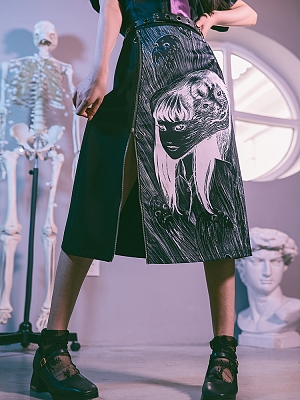 Quirky Hut and Junji Ito Collaboration Tomie Skirt by Quirky Hut