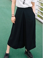Black High-waist Loose Pants by Quirky Hut