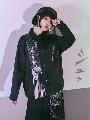 Quirky Hut and Junji Ito Collaboration Tomie Long Sleeves Shirt by Quirky Hut