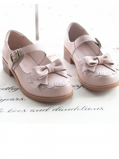 One Word Belt Small Peter Round Head Doll Shoes by The Night Rainbow
