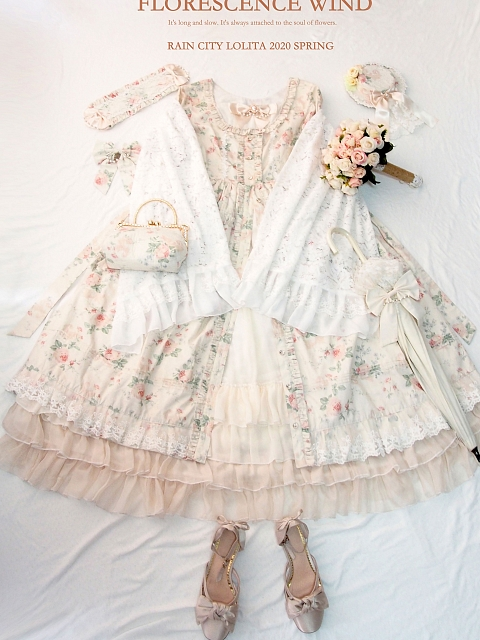 Florescence Wind OP or JSK or Skirt Set by Rain City