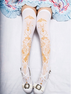 Summer Angel Gold-plated Over-Knee Stockings by Reina