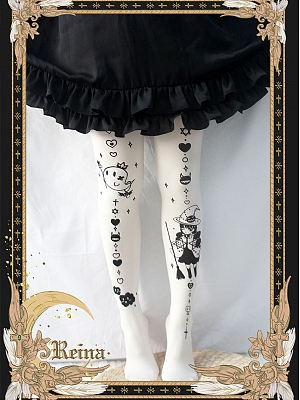 Little Witch 120d Velvet Bronzed Print Pantyhose by Reina