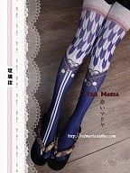 Taizheng Style Shiba Double-sided printed Pantyhose by Red Maria Lolita