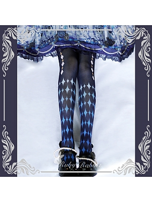 The Alice Printed Tights by Ruby Rabbit