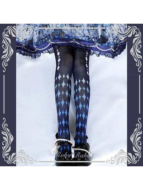 The Alice Printed Pantyhose by Ruby Rabbit