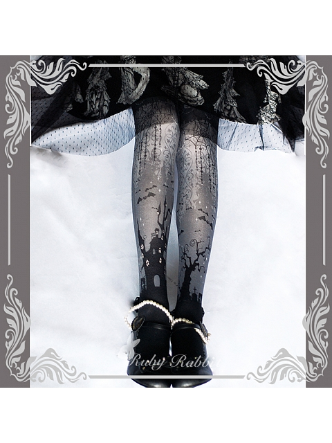 Halloween Printed Pantyhose by Ruby Rabbit