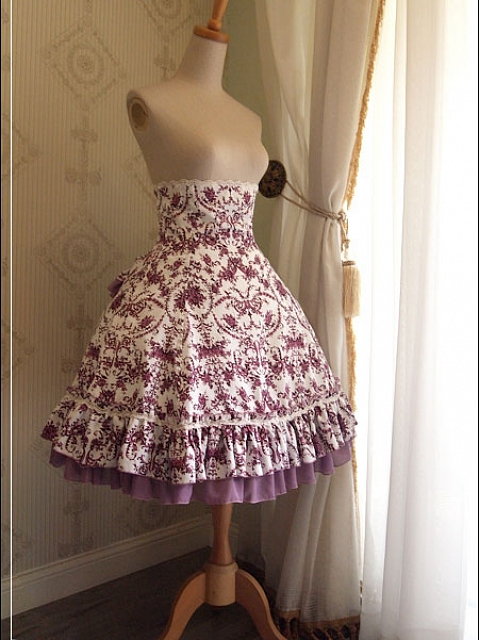 Rose Day and Night High-waisted Fishbone Victoria Purple Classic SK By Rseries