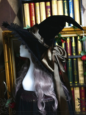 Holy Cross Halloween Witch Velvet Hat by Rose Thorn