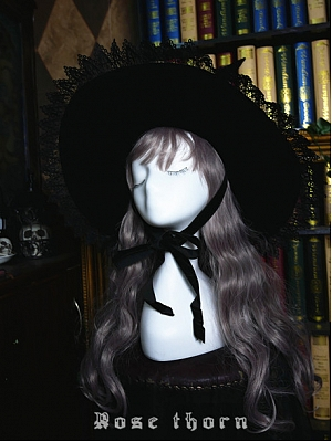 Black wizard Halloween Witch Hat by Rose Thorn