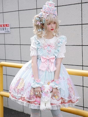 Sweetheart Party Sweet Lolita Dress JSK by Semi Magic Lolita