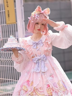 Sweetheart Party Lolita Dress Matching KC by Semi Magic Lolita