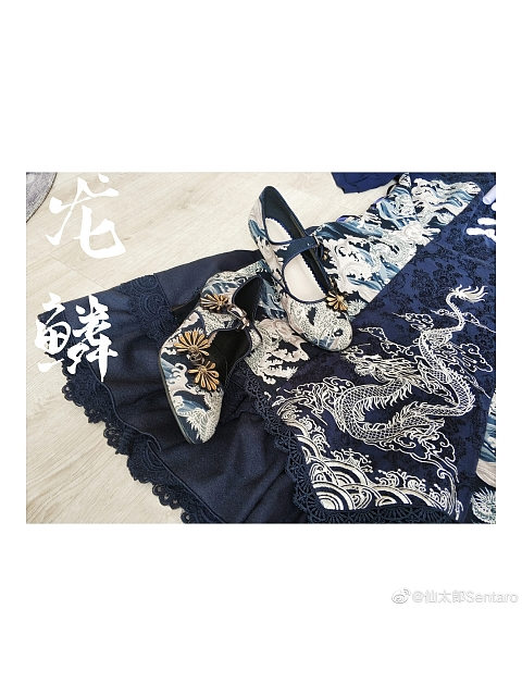Dragon Scale Chinese Style Shoes by Sentaro