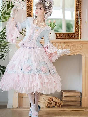 Snow Ear Rococo Style Blouse and Skirt by Sentaro