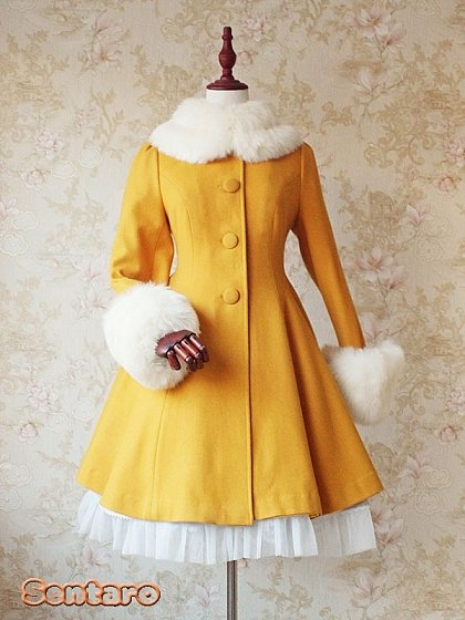 Custom Size Available Graceful Woollen Huge Sweep Coat by Sentaro