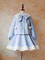 Soft Fake Rabbit Fur Woollen Coat by Sentaro