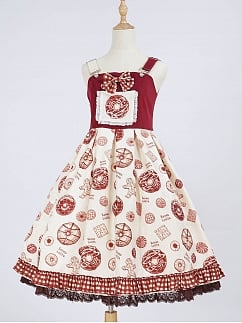 Sweet Donut Lolita Dress Strapdress JSK by Seven Lolita