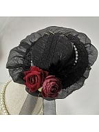 Floral Vintage Hat - Song of the Field by Shirotori Lolita