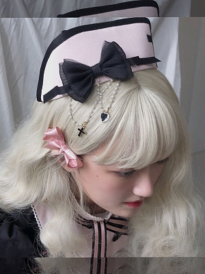 Love Rescue Nurse Lolita Matching Hat / Badge by Sweetkiller Lolita