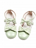 Pre-order Thumbelina Lace Plaid Bow Shoes Round Head Shoes by Sheep Puff