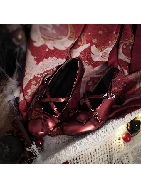 Little Devil Middle-heel Shoes by Sheep Puff