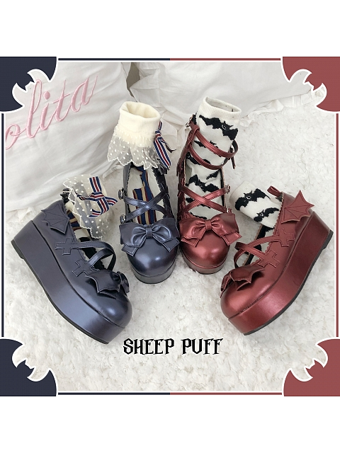 Younger Sister Devil Lolita Shoes Lolita Platforms by Sheep Puff