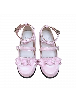 Little Cloud Melullo Round Head Low-heel Shoes by Sheep Puff