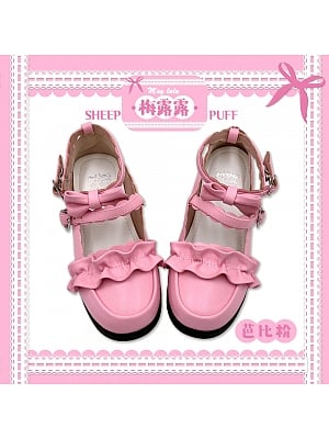 Melullo Round Head Shoes Barbie Pink by Sheep Puff