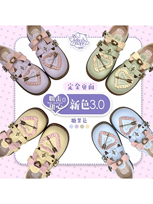 Snipe Sweetheart Lolita Shoes by Sheep Puff  Low-heel Lolita Shoes with Sweet Candy Colors