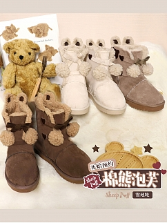 Cotton Teddy Puffs UGG Boots by Sheep Puff