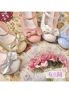 New Color A Little Round Heels Round-head Shoes by Sheep Puff