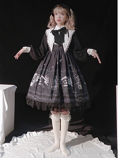 The Doll Theater Gothic Lolita Dress OP by Semi Lolita