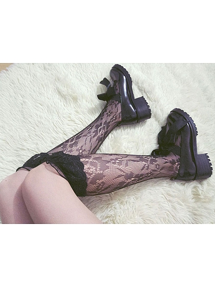 Lolita Big Lace Embroidered Stockings