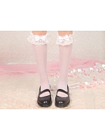 Sweet Lolita Lace Trims Bowknots Imitated Pearl Stockings