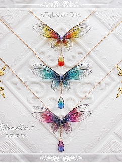 Silmarillion Handmade Exquisite Butterfly Necklace by sTyLe or Die