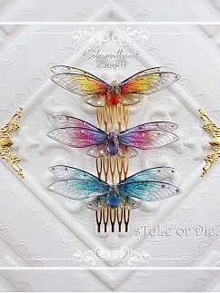 Silmarillion Handmade Butterfly Hairclip /Haircomb by sTyLe or Die